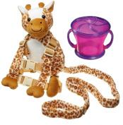 Goldbug Animal 2 in 1 Harness with Travel Snack Cup, Giraffe