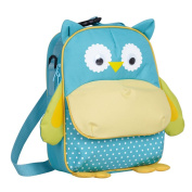 yodo Little Kid Insulated Lunch Bag for Snack and Fruit, Blue Owl