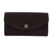 Women's Wallet Dark Brown Genuine Leather Chequebook Pocketbook Clutch Purse
