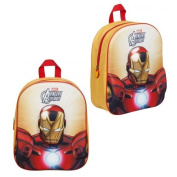 AVENGERS IRON MAN EVA KIDS BACKPACK BAG HANDLE SCHOOL RUCKSACK JUNIOR BOYS NEW