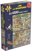 Jan van Haasteren - Safari and Storm 1000 Piece Jigsaw Puzzles