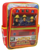"Fireman Sam - New Design! ""SAM in Fire Engine! Backpack with Front Pocket Rucksack / School Bag"