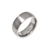 Black Bow Jewellery Company : Titanium 8mm Brushed Domed Band