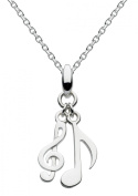 Dew Sterling Silver Silver Melody Musical Necklace 45.7cm 9459HP