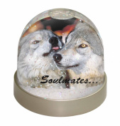 Wolves in Love 'Soulmates' Snow Dome Globe Waterball Gift