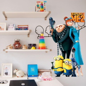 Topro Cartoon Despicable Me 2 Gru Minions Wall Art Stickers Decal Decoration
