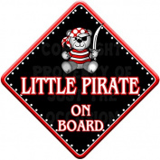 LITTLE PIRATE Baby on Board Car Window Sign