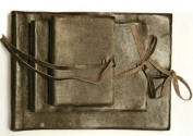 Brown Leather Bound Photo Album with Tie - Size Medium