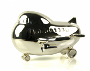 Silverplated Money Box - Jumbo Jet