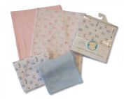 2 Pack Flannelette Cot Bed Sheets - 1 Plain 1 Printed