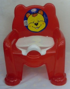 Baby Potty Trainer Potty Training Seat Chair Red With Removable Potty Pot New