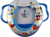 Disney Mickey Mouse Potty Training Toddlers Padded Toilet Seat With Handles