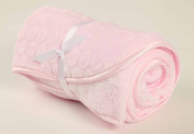 Soft Plush Baby Blanket Pink Satin Trim