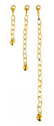Necklace-Bracelet Extender-3 Piece Gold Tone
