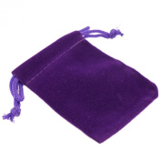 Pack of 12 Purple Colour Soft Velvet Pouches w Drawstrings for Jewellery Gift Packaging, 5x7cm