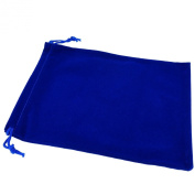 Pack of 12 Blue Colour Soft Velvet Pouches w Drawstrings for Jewellery Gift Packaging, 15x20cm