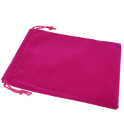 Pack of 12 Fuchsia Colour Soft Velvet Pouches w Drawstrings for Jewellery Gift Packaging, 15x20cm