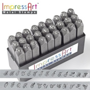 ImpressArt-6 27-Piece Uppercase Stamp Set, Royal Crest, 6mm