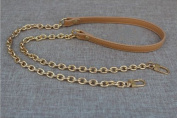 Cream-coloured Messenger Bag Straps Chains Metal Handbag Purse Clutch Chains Width 1.2cm Total Length 130cm