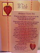 Because I Love You....... Sentimental Keepsake Wallet / Purse Card