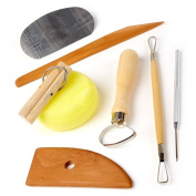 CLAY POTTERY TOOL KITS 8 PC SET Ceramics Wax Carving Sculpting Moulding