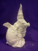 Doc Holiday Gnome with Baby hatchling Dragon