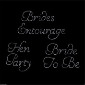 Kit D Bridal Hen party rhinestone T shirt transfer iron on Design set By CrystalsRus