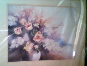 """ Flowering Watercolour"" Crewel Needlpint Kit"
