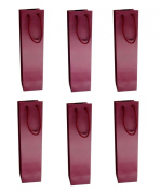 Elife 1-Bottle Deep Red Colour Paper White and Red Wine Bag Holder, Pack of 6