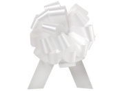 10 White Flora Satin Tiny 6.4cm Pull Bows 6.4cm - 14 Loops Gift Bags Basket Wrap