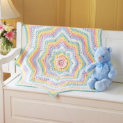 Rainbow Blossom Baby Blanket Crochet Kit