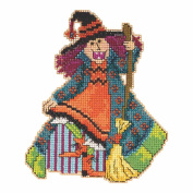 Mimi the Witch Halloween Beaded Cross Stitch Kit Mill Hill 2015 Hocus Pocus Trilogy MH195202