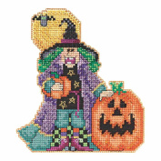 Muriel the Witch Halloween Beaded Cross Stitch Kit Mill Hill 2015 Hocus Pocus Trilogy MH195203