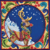 Mill Hill Jim Shore Reindeer Counted Cross Stitch Kit, 13cm by 13cm