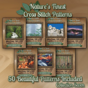 Nature's Finest Cross Stitch Patterns - Collection Seven - 50 Beautiful Landscape / Scenery Cross Stitch Designs on CD