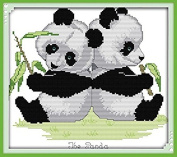 Happy Forever Cross Stitch, animals, panda twins