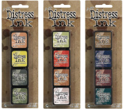 Ranger Tim Holtz Distress Mini Ink Pad Kits - #10, #11 and #12 Bundle