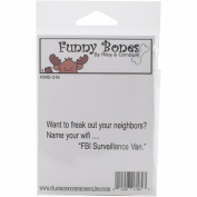 Riley & Company Funny Bones Cling Mounted Stamp 8.3cm X.190cm -Name Your Wifi