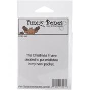 Riley & Company Funny Bones Cling Mounted Stamp 5.1cm X.190cm -Mistletoe