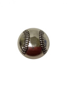 Snap Charming Silver Baseball Interchangeable Jewellery Snap Button Accessory