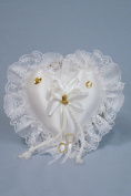 Western Wedding Ring Pillow ~ Ivory
