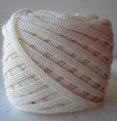 Organic Cotton Hand-Dyed Flat Braid Trim - Natural - 25 Yards