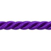 Expo International 20-Yard Charlotte Twisted Cord Trim Embellishment, 0.5cm , Purple