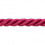 Expo International 20-Yard Charlotte Twisted Cord Trim Embellishment, 0.5cm , Fuchsia