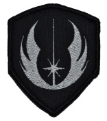 Jedi Order Galactic Republic Jedi Knights 3x2.5 Shield Biker / Cosplay Iron On or Sew On Patch - Black