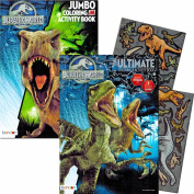 Jurassic World Colouring Book Set with Stickers and Posters