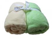 Cosy Fleece Microplush Fitted Crib Sheet, Yellow/Mint