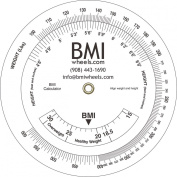 BMI Wheel, Bariatric up to 270kg, pounds and inches, 11cm calculator