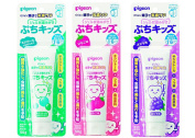 Pigeon Three Flavours Gel Toothpaste for 18+ Months.