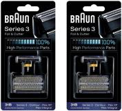 31B BRAUN 5000/6000 Series Contour Flex XP Integral Shaver Foil & Cutter Head Replacement Combi Pack Black, 2 Count